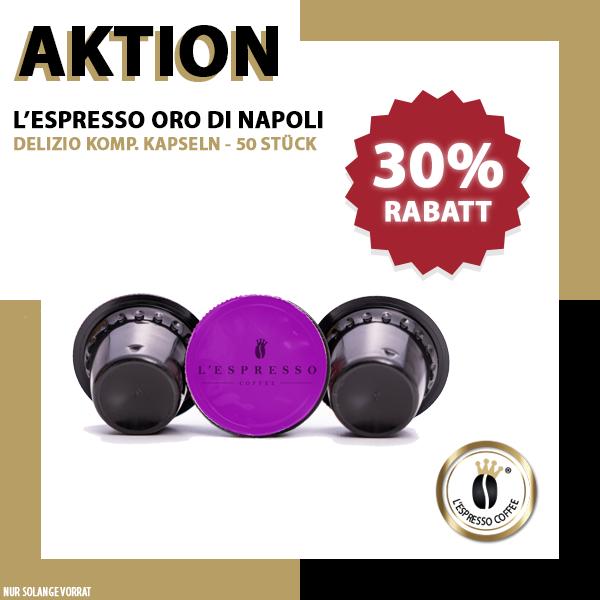 L'ESPRESSO Oro di Napoli Kapseln Delizio - 50er Pack