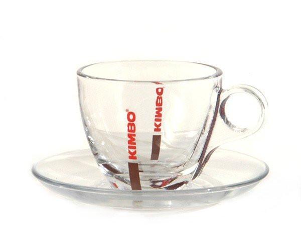 Kimbo Cappuccino Glastassen - 6 Stk