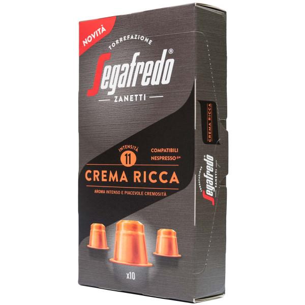 Segafredo Crema Ricca Nespresso® komp* 10er Pack
