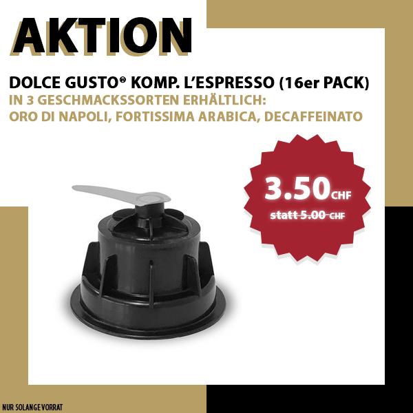 L'ESPRESSO Decaffeinato Dolce Gusto® komp* - 16er Pack