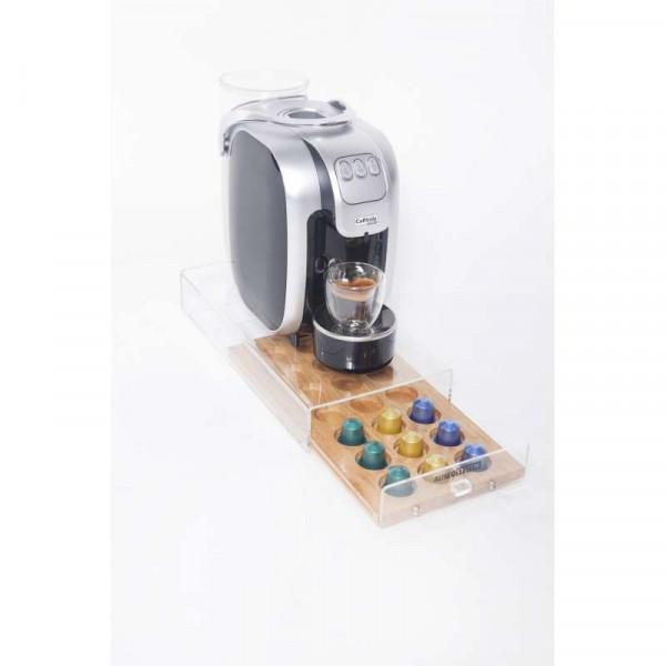 Iplan Coffee Deluxe 21 - Base con portacapsule per macchine da caffè
