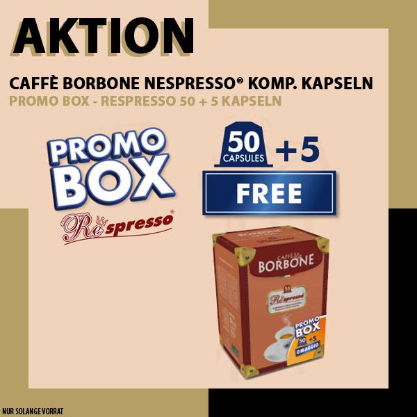PROMOBOX - Borbone Respresso NERA Nespresso® komp* - 50er Pack