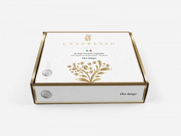 L'ESPRESSO Oro Lungo Forte Nespresso® kompatibel - Nespresso Professional - 50er Pack