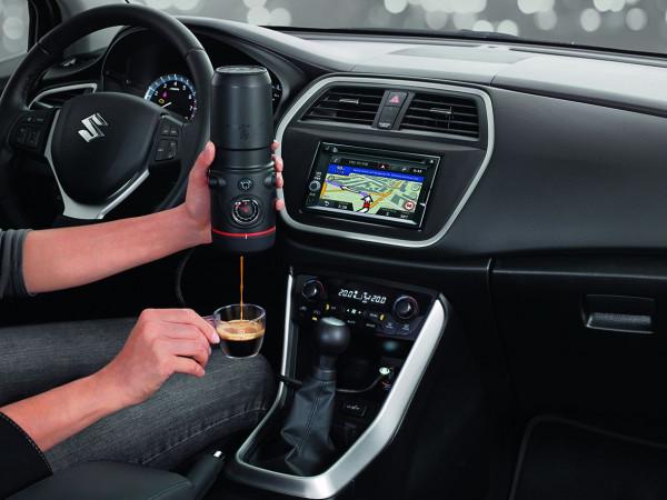 Handpresso Auto und Borbone Espresso Pads Blu 15er