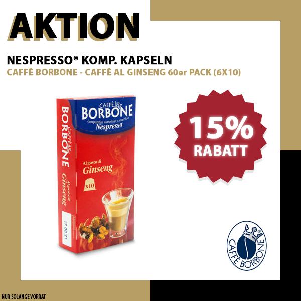 Borbone Ginseng Nespresso® komp* - 6x10er Pack